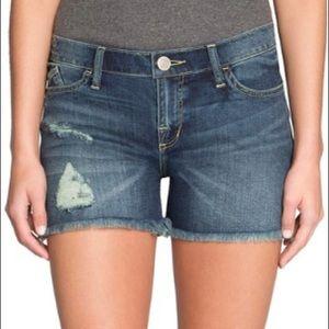 Rock & Republic Distressed Frayed Jean Shorts Sz 4